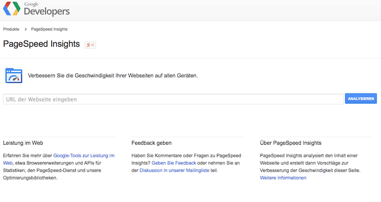 Ladezeit für Blogs testen mit Google-PageSpeed-Insights