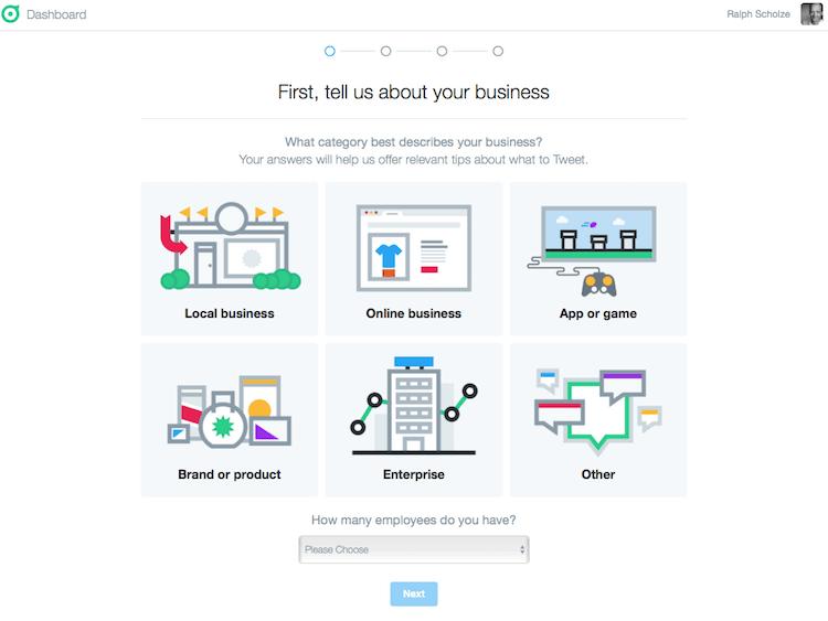Zuordnung für das Twitter Dashboard by Twitter
