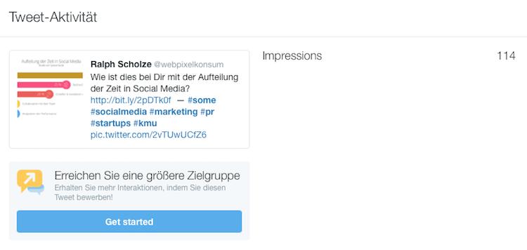 Einblicke in die Reichweite von Tweets auf Twitter by webpixelkonsum