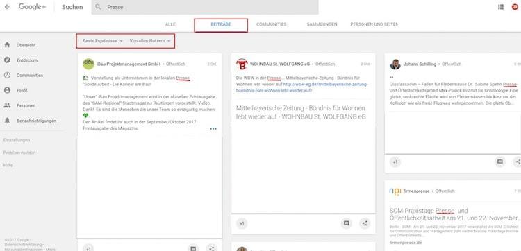 Suchfunktion auf Google+ [3 von 7] by Clemens Lotze - Suchfunktion in Google+: Google verbessert sie