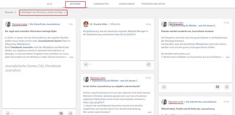 Suchfunktion auf Google+ [6 von 7] by Clemens Lotze - Suchfunktion in Google+: Google verbessert sie