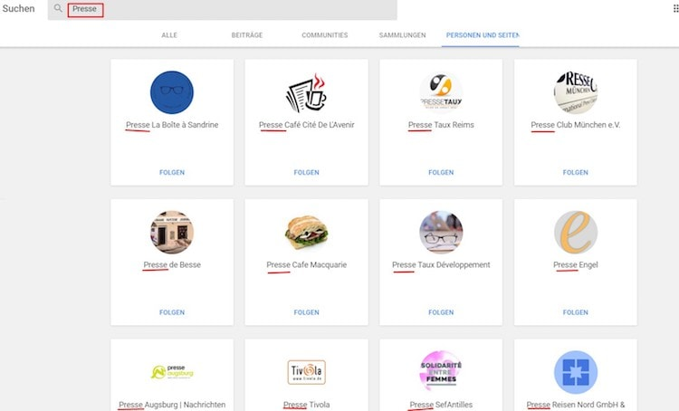 Suchfunktion auf Google+ [7 von 7] by Clemens Lotze - Suchfunktion in Google+: Google verbessert sie