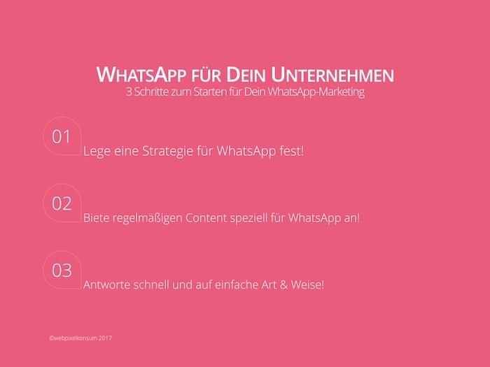 WhatsApp für Dein Unternehmen und Tipps für das WhatsApp-Marketing von webpixelkonsum - WhatsApp für Dein Unternehmen: Anregungen für Dein Marketing