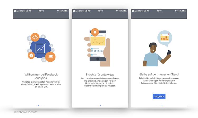 Facebook App Analytics: Erste Schritte beim Start dieser App von Facebook von webpixelkonsum
