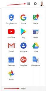 Das Auswahlfenster ihres Google-Accounts zeigt ihnen My Business